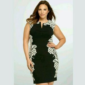 Torrid Black Dress with off white lace